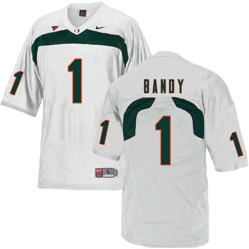 Nike Miami Hurricanes #2 Trajan Bandy College Football Jerseys Sale-White
