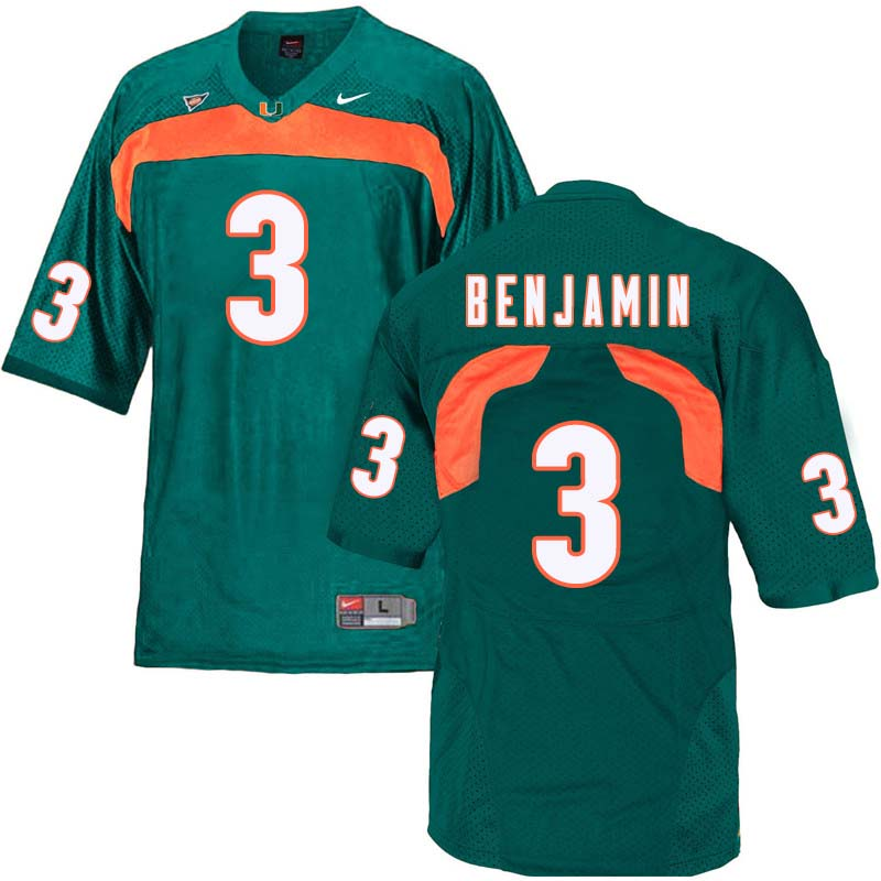 Nike Miami Hurricanes #3 Travis Benjamin College Football Jerseys Sale-Green