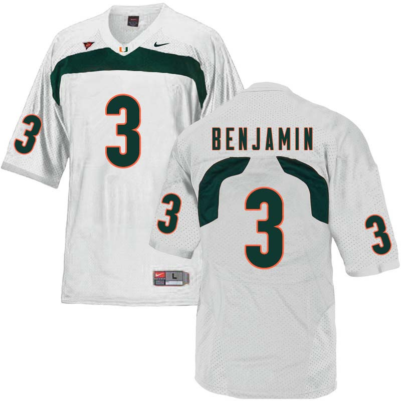 Nike Miami Hurricanes #3 Travis Benjamin College Football Jerseys Sale-White