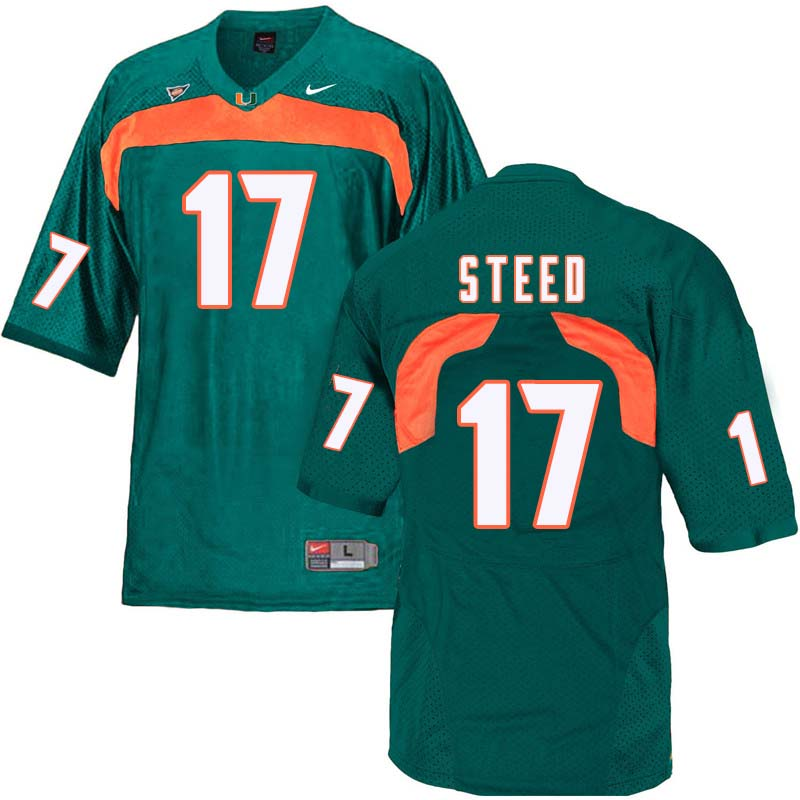 Nike Miami Hurricanes #17 Waynmon Steed College Football Jerseys Sale-Green