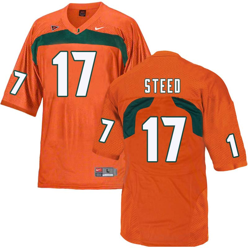 Nike Miami Hurricanes #17 Waynmon Steed College Football Jerseys Sale-Orange