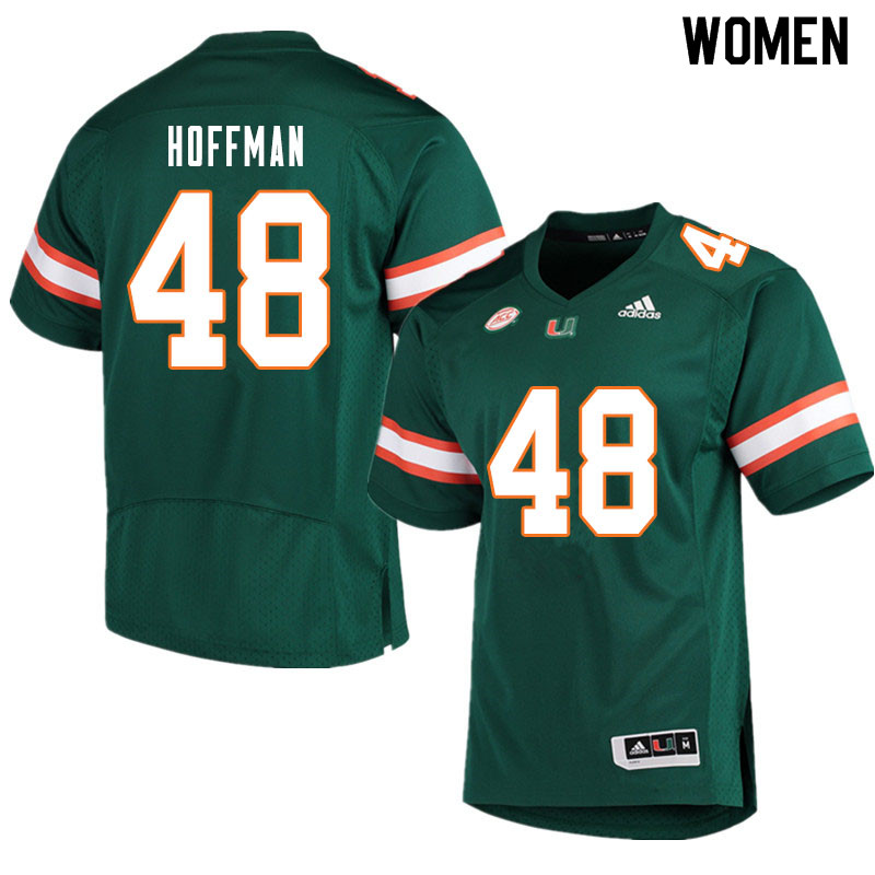 Women #48 Jake Hoffman Miami Hurricanes College Football Jerseys Sale-Green