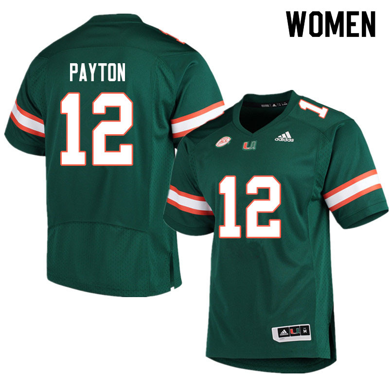 Adidas Miami Hurricanes Women #12 Jeremiah Payton College Football Jerseys Sale-Green