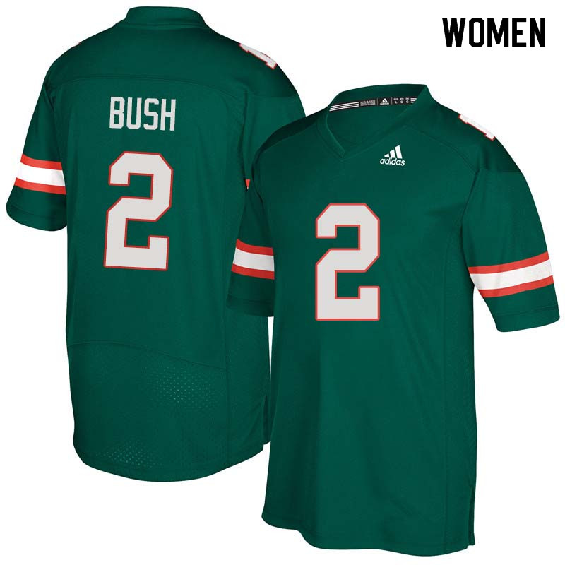 Women Miami Hurricanes #2 Deon Bush College Football Jerseys Sale-Green