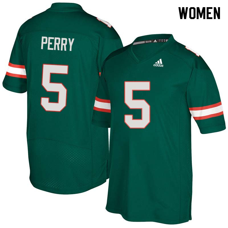 Women Miami Hurricanes #5 NKosi Perry College Football Jerseys Sale-Green