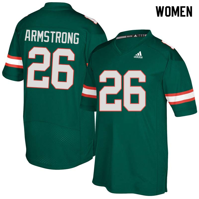 Women Miami Hurricanes #26 Ray-Ray Armstrong College Football Jerseys Sale-Green