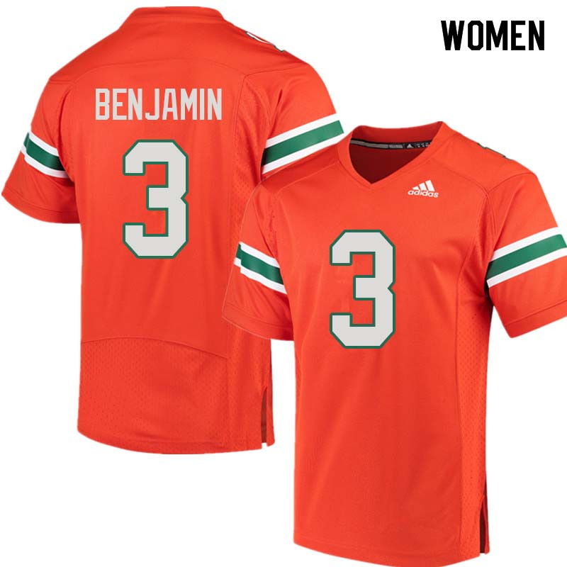 Women Miami Hurricanes #3 Travis Benjamin College Football Jerseys Sale-Orange