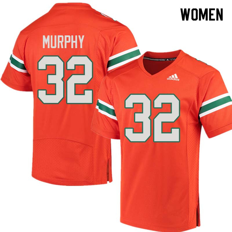 Women Miami Hurricanes #32 Tyler Murphy College Football Jerseys Sale-Orange