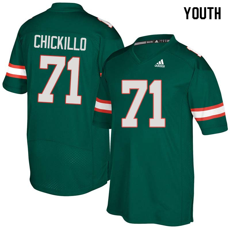 Youth Miami Hurricanes #71 Anthony Chickillo College Football Jerseys Sale-Green