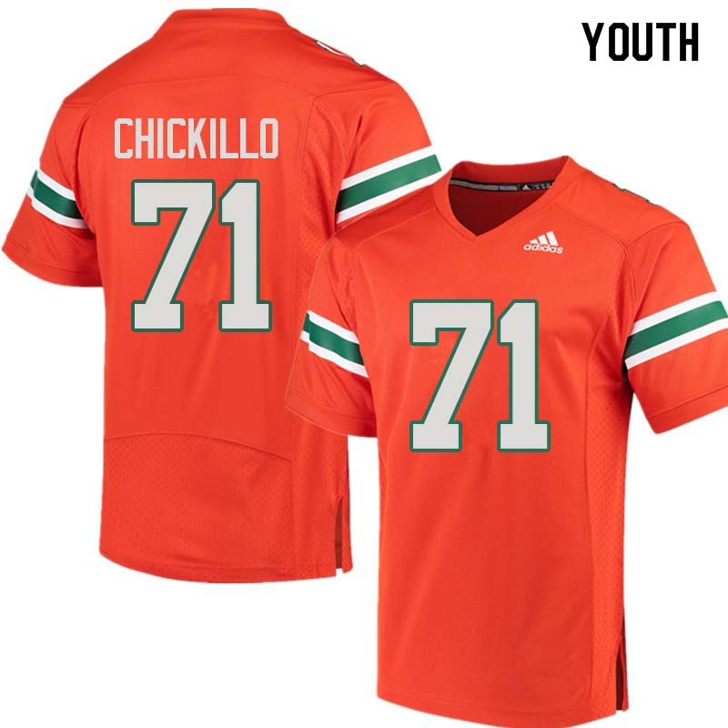 Youth Miami Hurricanes #71 Anthony Chickillo College Football Jerseys Sale-Orange