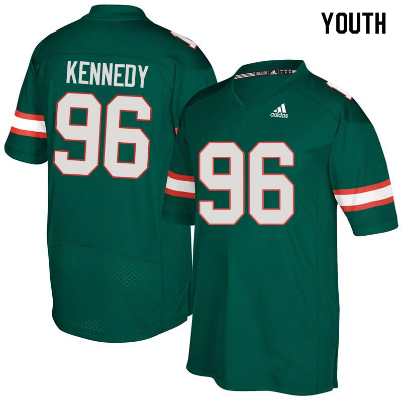 Youth Miami Hurricanes #96 Cortez Kennedy College Football Jerseys Sale-Green