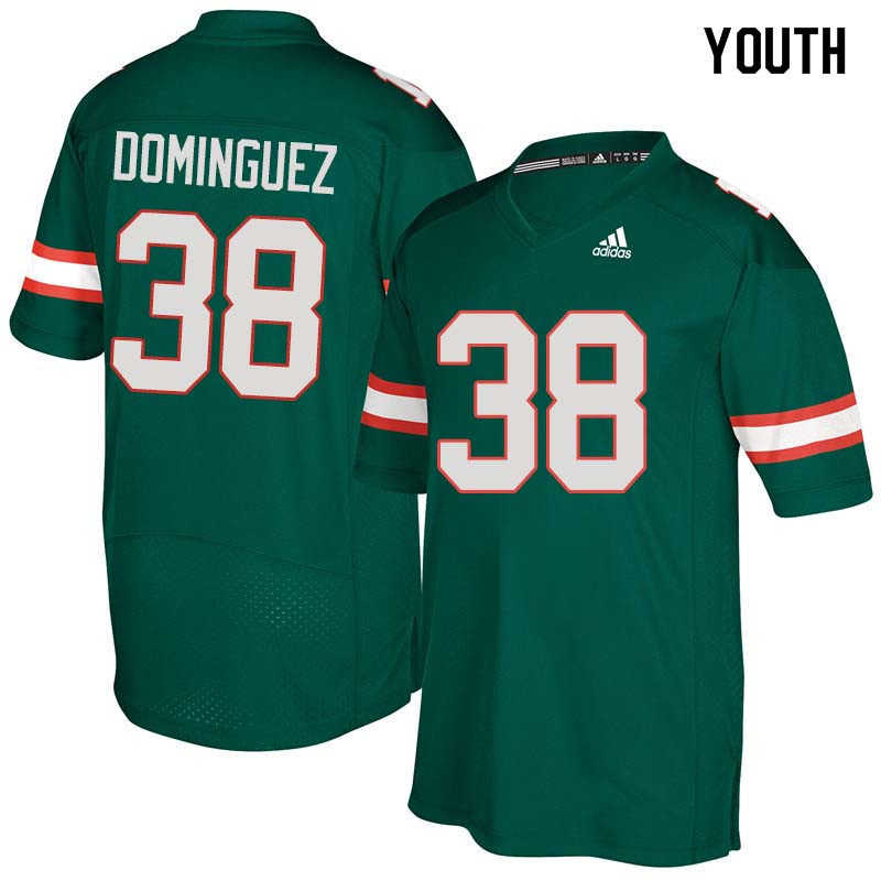 Youth Miami Hurricanes #38 Danny Dominguez College Football Jerseys Sale-Green