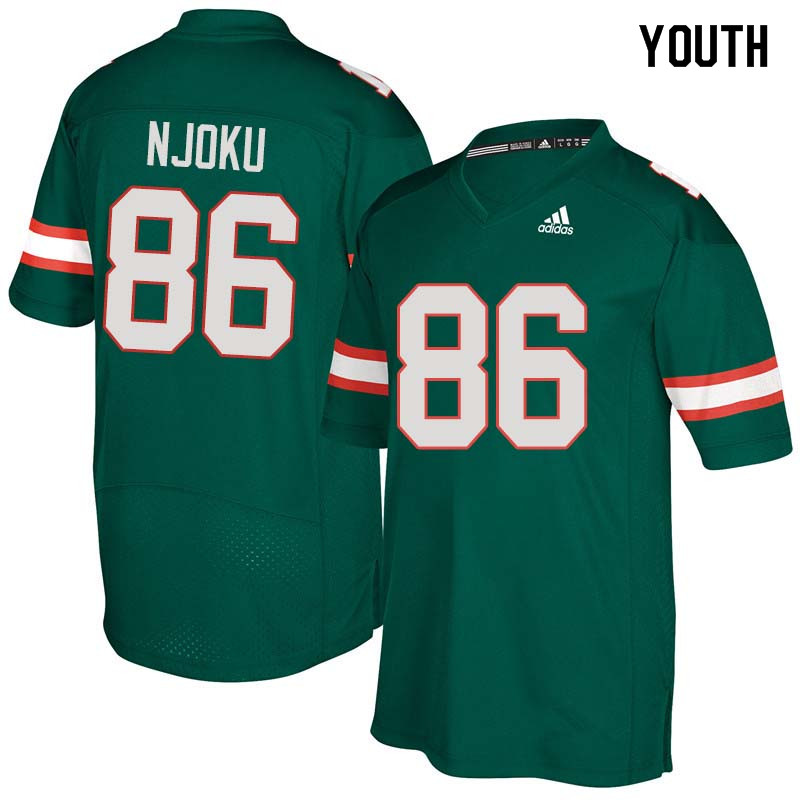Youth Miami Hurricanes #86 David Njoku College Football Jerseys Sale-Green