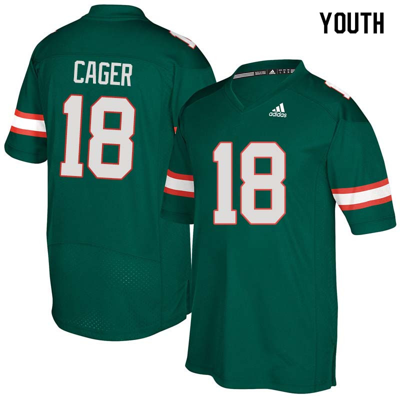 Youth Miami Hurricanes #18 Lawrence Cager College Football Jerseys Sale-Green