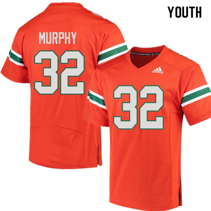 Youth Miami Hurricanes #32 Tyler Murphy College Football Jerseys Sale-Orange