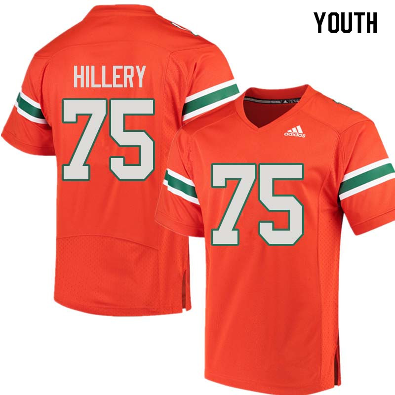 Youth Miami Hurricanes #75 Zalontae Hillery College Football Jerseys Sale-Orange